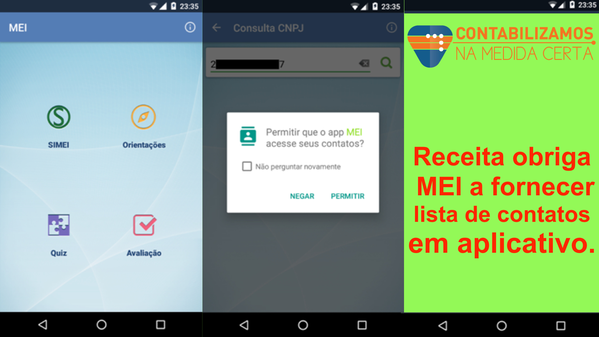 Receita Obriga MEI A Fornecer Lista De Contatos Em Aplicativo
