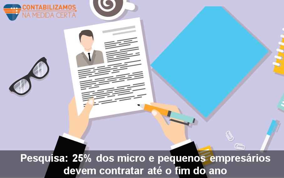 Pesquisa: 25% Dos Micro E Pequenos Empresários Devem Contratar Até O Fim Do Ano