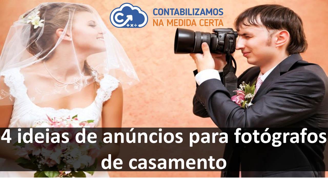 4 Ideias De Anúncios Para Fotógrafos De Casamento
